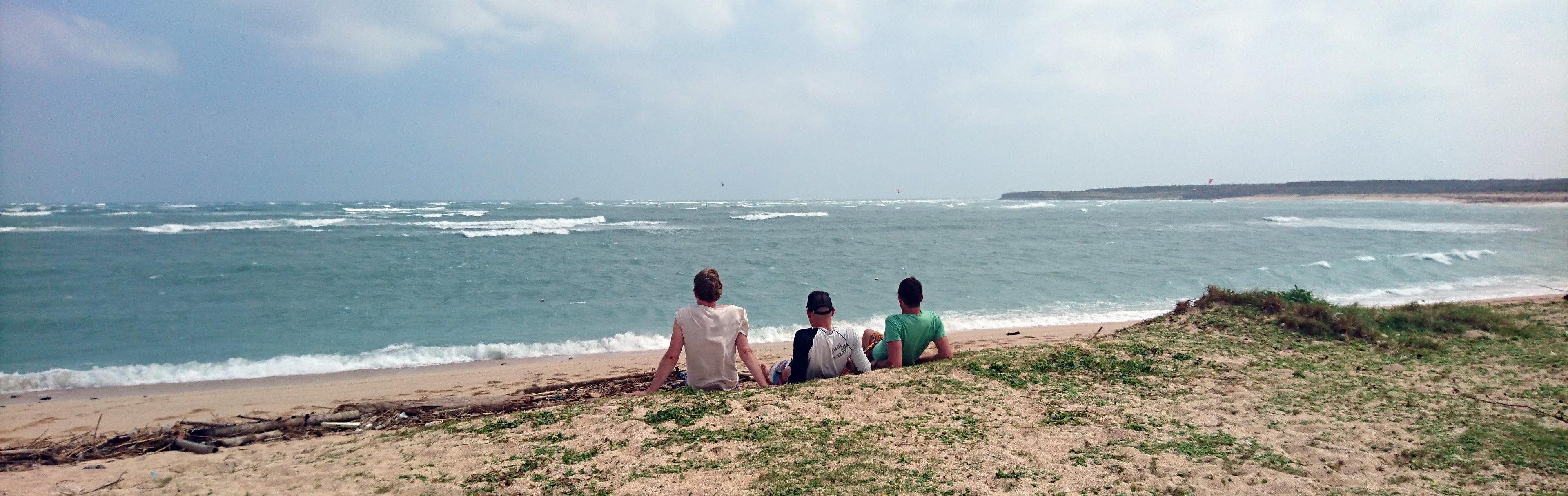Chilling at Longmen beach