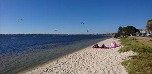 Kitesurfing at Melville Beach Road