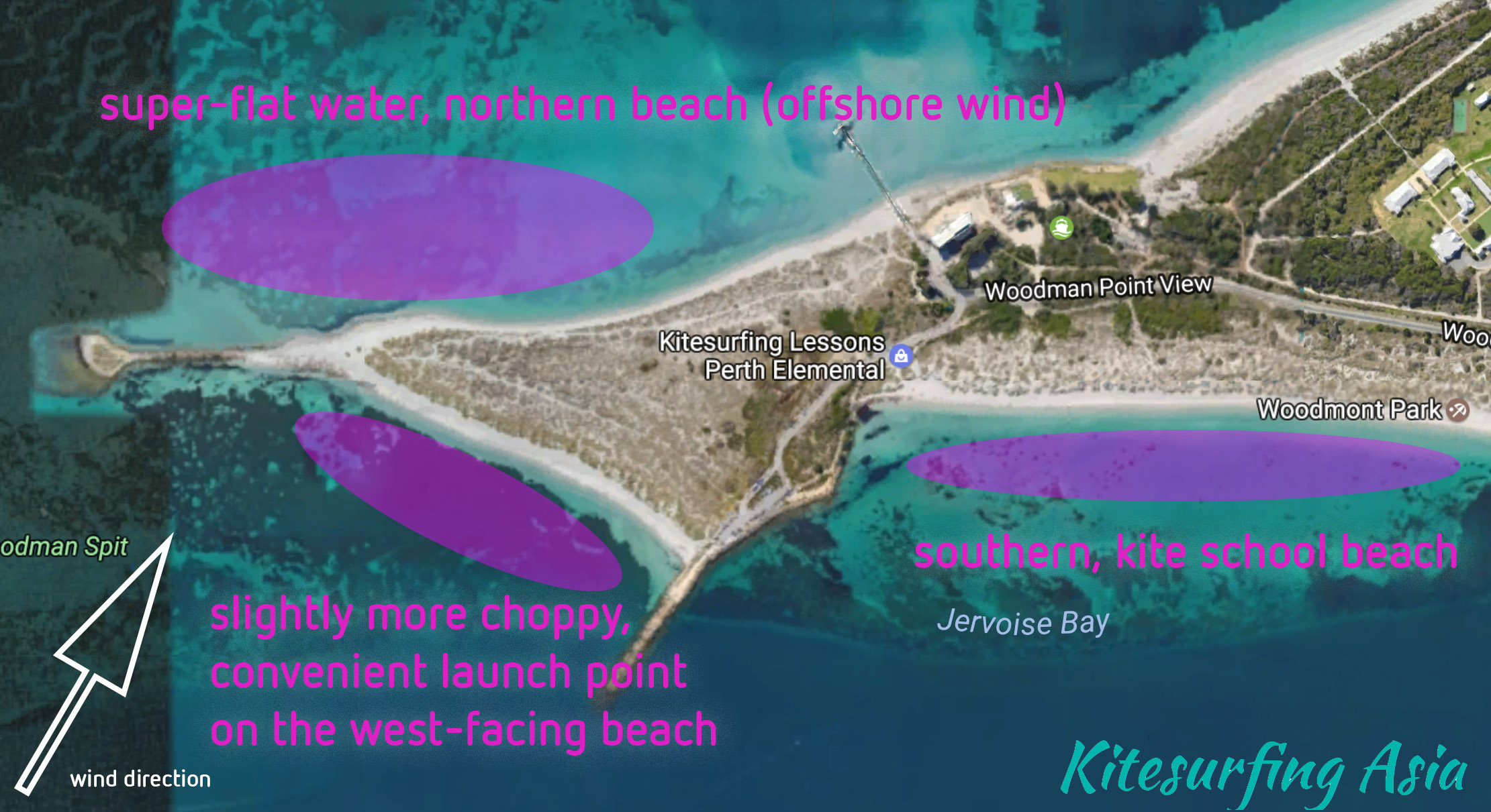 Perth Woodman Point Kitesurfing Spots Overview