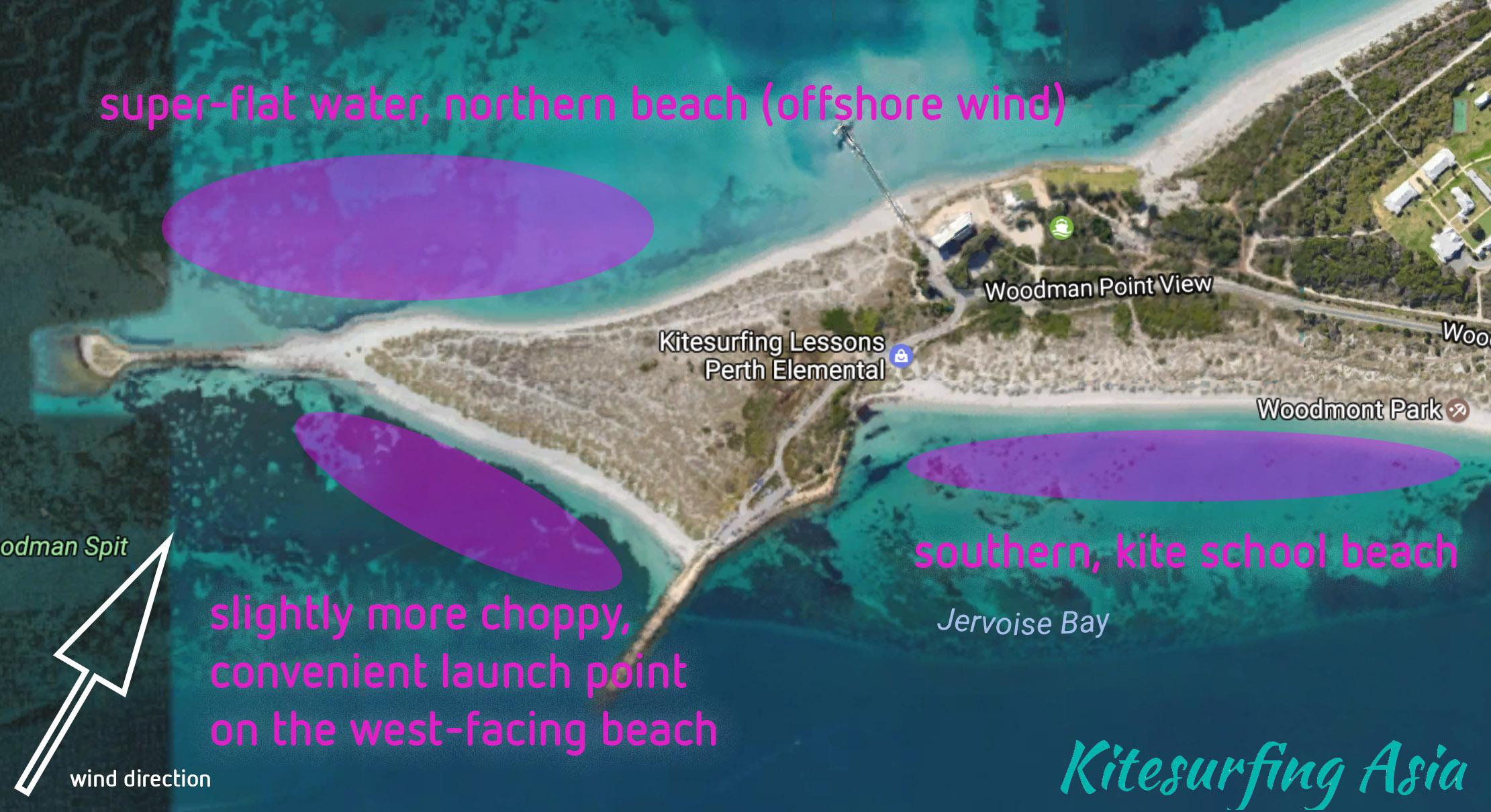 Perth Woodman Point Kitesurfing Spots Overview