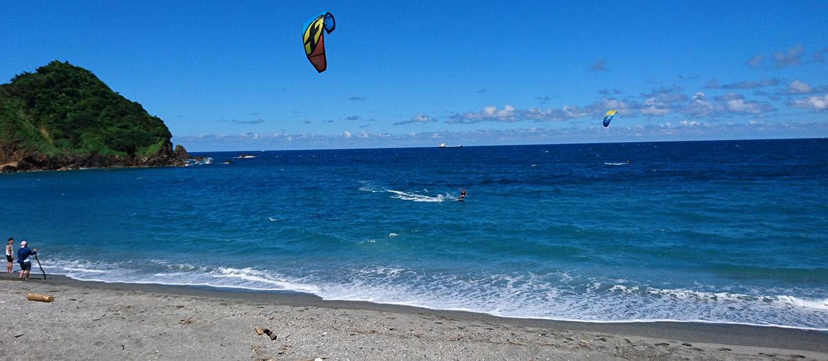 taipei taiwan kitesurfing beach